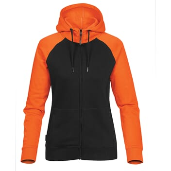 Omega two-tone zip hoody dame