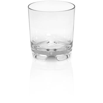 Plastglass whiskey med logo
