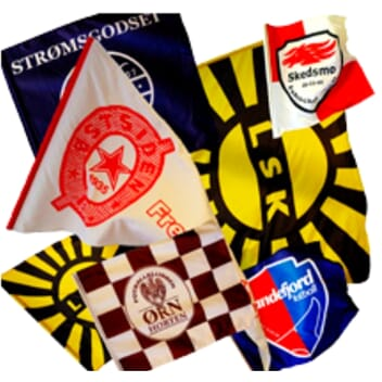 Supporterflagg  20x30 cm
